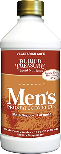 Buried Treasure: Men's Prostate Complete - Natural Herbal Formula Supplement w/ Saw Palmetto, Pygeum Bark, & Stine Nettles to Support Healthy Urinary & Prostate Function -  16 oz