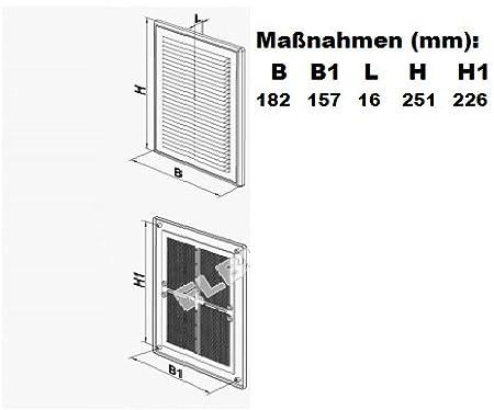 /avec moustiquaire pour extracteur Ventilation A/ération /Plastique/ Grille de ventilation/