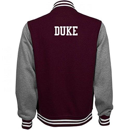 Duke Comfy Sports Fan Gear: Unisex Fleece Letterman - Varsity Jacket Soccer