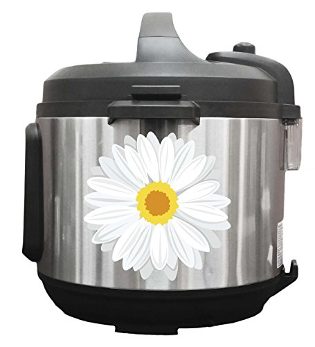 Daisy Flowers White - 6 inch Vinyl Decals for Instant Pot Ap