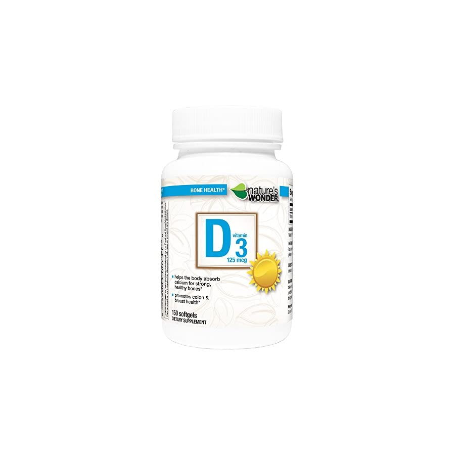 Nature's Wonder Vitamin D3 125mcg Tablets
