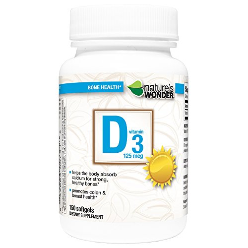 Nature's Wonder Vitamin D3 125mcg Tablets, 150 Count
