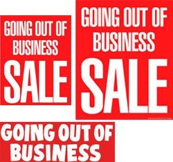 Going Out Of Business 14pc Big Format Sign Kit Business And Store Signs