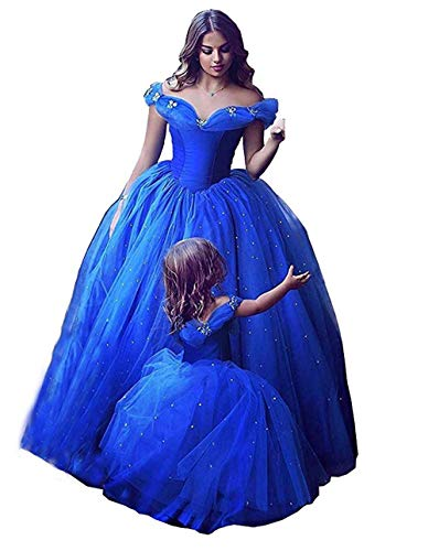 Chupeng Women's Princess Costume Butterfly Off Shoulder Cinderella Prom Gown Wedding Dresses Evening Gown Quinceanera Dress sblue3 96