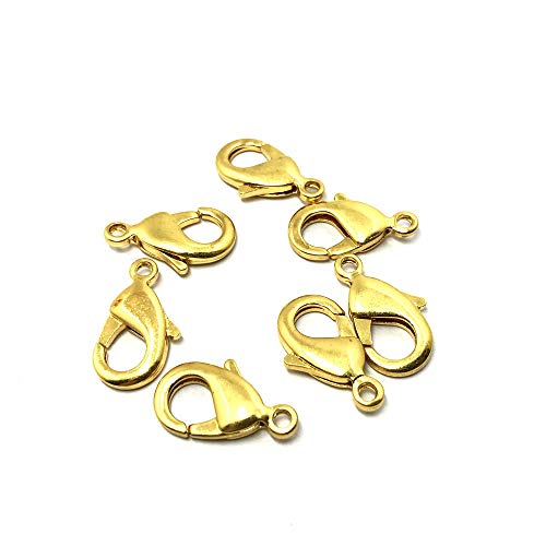- TheTasteJewelry 35mm Lobster Clasp Gold Tone Lot 10 Pcs Findings Jewelry Making Finishings