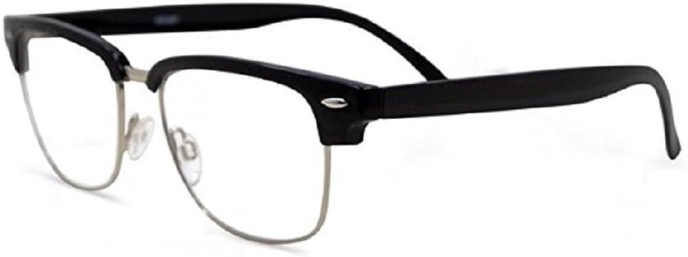 Semi Rimless Metal Clear Bifocal Reading Glasses