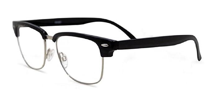 a905eadbab Semi Rimless Metal Clear Bifocal Reading Glasses - Black 1.00