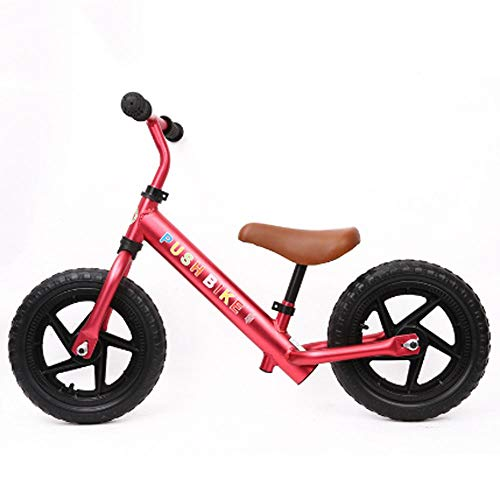 AIOJY Child Toy Bike Not Inflatable Aluminum Alloy Rubber Tire Scooter No Pedal Training Bicycle Child Balance Bike 2-6 Years Old 12 Inches Baby Damping Brake Sliding Car Work Out Toddler Portable Chi