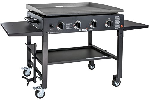 Blackstone 1554 Station-4-burner-Propane Fueled-Restaurant Grade-Professional 36 inch Outdoor Flat Top Gas Grill Griddle Station-4-bur, 36' - 4 Burner