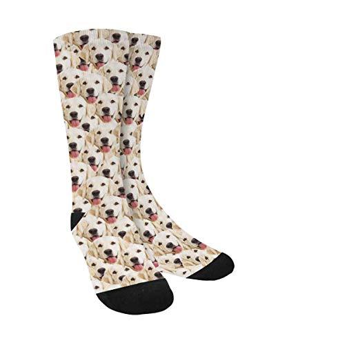 (Custom Face Socks Multiple Faces, Put Your Dog Pet on Socks for Men Women Boys Girls)