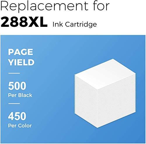 myCartridge Remanufactured Ink Cartridge Replacement for Epson 288XL 288 XL (2 Black 1 Cyan 1 Magenta 1 Yellow, 5-Pack) Fit for Expression XP-330 XP-340 XP-430 XP-434 XP-440 XP-446 Printer