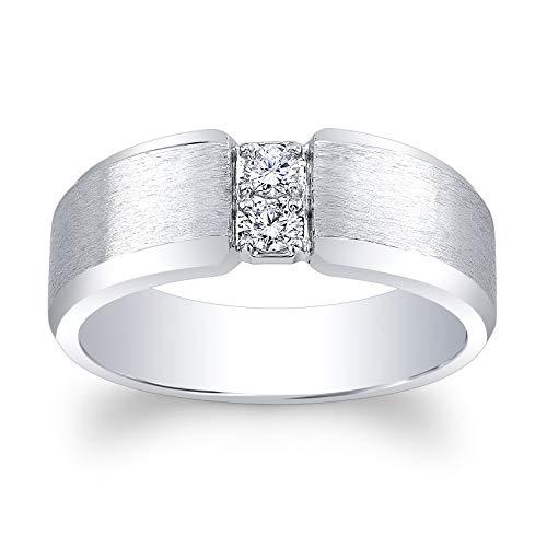 (Men's Platinum diamond wedding band 0.20 ctw )