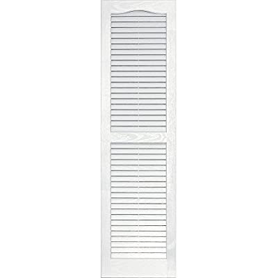 Vantage 0114051123 14X51 Louver Arch Shutter/Pair 123, White from The TAPCO Group - DROPSHIP