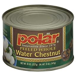 Polar Peeled Whole Water Chestnut 8 Oz (Pack of 4)