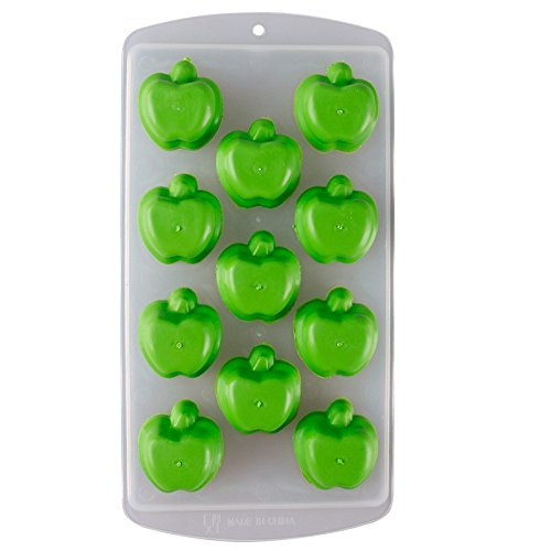 Silicone Ice Mold - 1 Piece Funny Fruit Shape Silicone Chocolate Mold Maker Ice Cube Tray Freeze Mould Bar Pudding Jelly - Fruit Ice Mold - Small Silicone Molds - Silicone Mold Chocolate (APPLE)