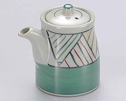 Aziro Green 2.8inch Set of 10 Soy Sauce Dispensers Grey porcelain Made in Japan by Watou.asia