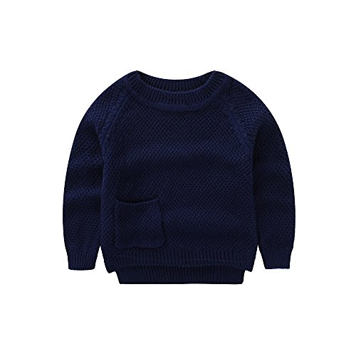 8717226ec020 Baby Boys Girls Crochet Sweater Infant Kids Cable Knit Cotton ...