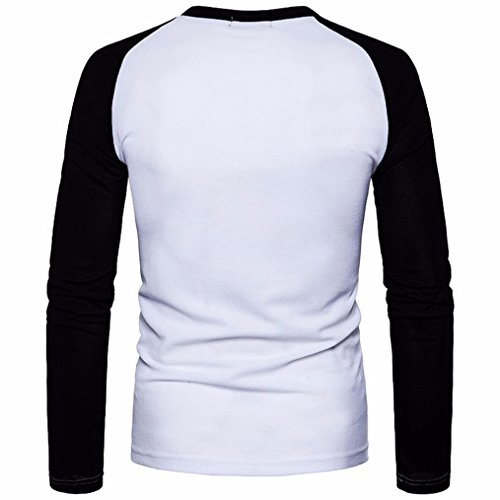 T Vintage Crew Hoodie Homme Itisme Shirt shirt Mode Courte Longsleeve Basic Rond Col Top Hommes Manche Sweatshirt Blanc Encolure Neck apqUI