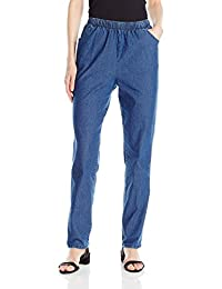Chic Classic Collection Womens Stretch Denim Pull on Pant