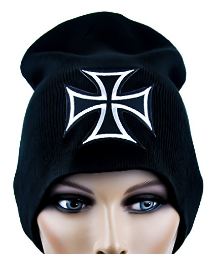 Iron Cross Beanie Gothic Knit Cap