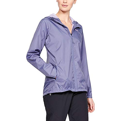 Under Armour Outerwear Women's UA Forefront Rain Jacket, Purple Luxe (520)/Purple Ace, Medium