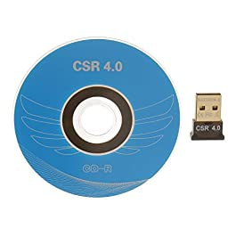 A N ENTERPRISE™ USB Bluetooth Adapter, CSR 4.0 USB Bluetooth Dongle Receiver with All in One Driver CD, Gold Plated, for Laptop PC Computer Supports Windows 10 8 7 Vista XP