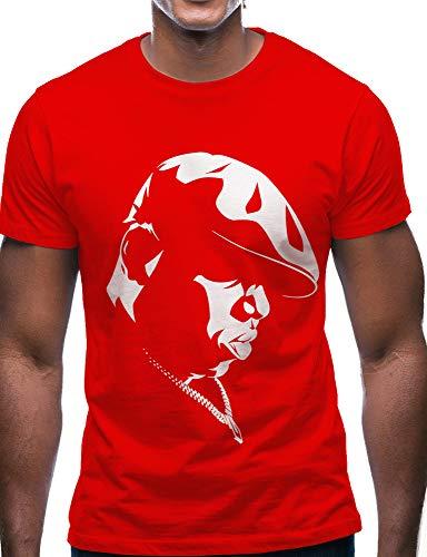 Swag Point Hip Hop T-Shirt - Funny Vintage Street wear Hipster Parody (M, Biggie-RED)