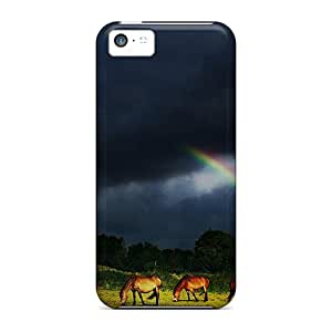 FoLZOmT8943UWrDL Anti-scratch Case Cover Jamesmeggest Protective Rainbow After A Storm Case For Iphone 5c