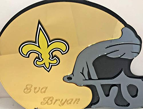 New Orleans Saints NFL Football Helmet Wall Decor Wall Hanging Personalized Free Engraved Mirror Sign NFL Sports Memorabilia - with Your Name On ()