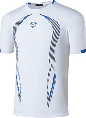 Sportides Boy's Quick Dry Active Sport Short Sleeve Breathable T-Shirt Tee Top LBS712 White L