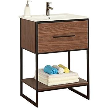 Fairmont designs 24 inch toledo open shelf vanity - 24 inch farmhouse bathroom vanity ...