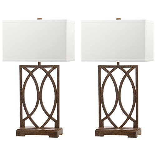- Safavieh Lighting Collection Jago Antique Gold 29.5-inch Table Lamp (Set of 2)