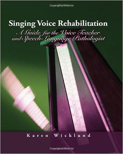 Singing Voice Rehabilitation: A Guide for the Voice Teacher