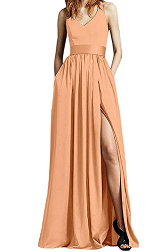 A Leader Pfirsich Beauty of Kleid the Linie Damen R8qIwSx8
