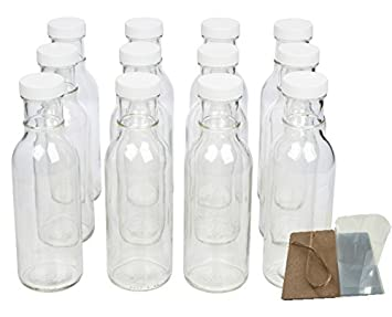 Protector de Boca Ancha Botellas de cristal para bebidas, decoraciones de salsa y con tapas
