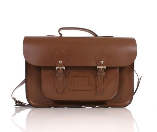 "15"" Chestnut Brown Backpack English Leather Satchel Classic Retro Fashion laptop / school bag"