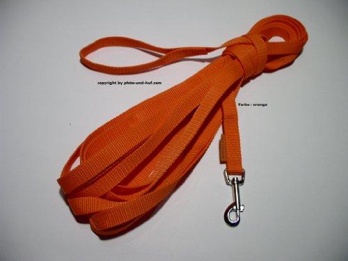 Fährtenleine Schleppleine Suchleine 20m 20mm Handschlaufe orange