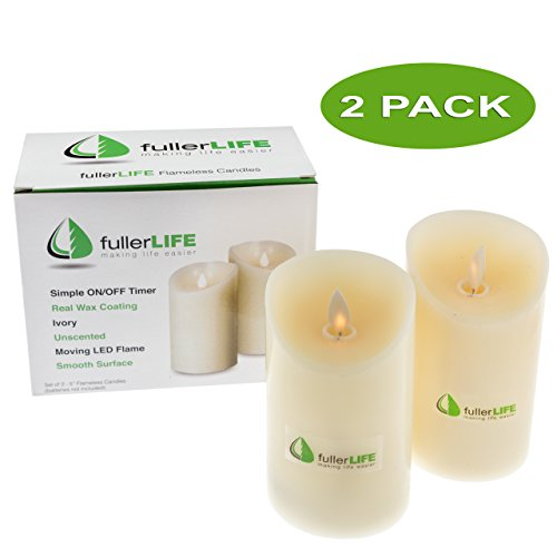 fullerLIFE Flameless Candles Operated Unscented