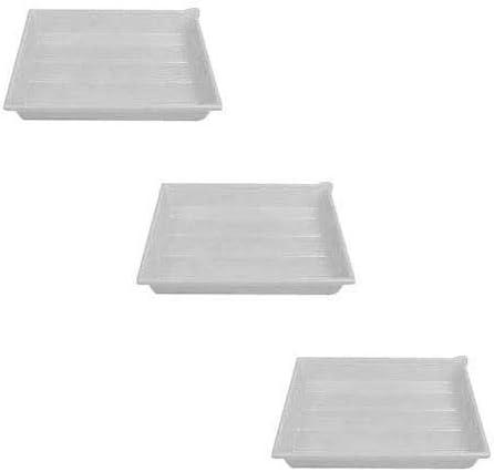 Adorama Plastic Print Developing Tray with Ribbed Bottom, 16x20x3 Deep, Set of Three Trays