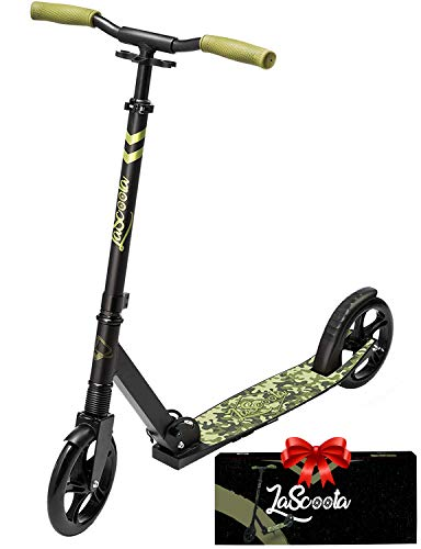 Lascoota Scooters for Kids 8 Years and up – Featuring Quick-Release Folding System – Dual Suspension System + Scooter Shoulder Strap 7.9″ Big Wheels Great Scooters for Adults and Teens