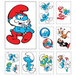 Smurfs Tattoos 4 Inch