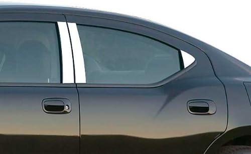 Ferreus Industries Piano Black Pillar Post Trim Cover fits 2006-2010 Dodge Charger All Models PIL-001-GB