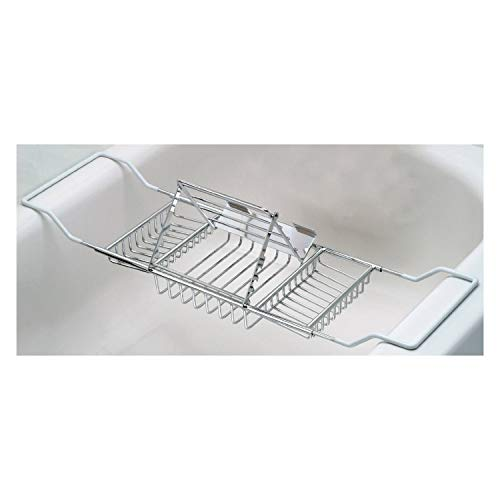 Useful. UH-BC187 Stainless Steel Bathtub Caddy with Extending Sides and Book Holder