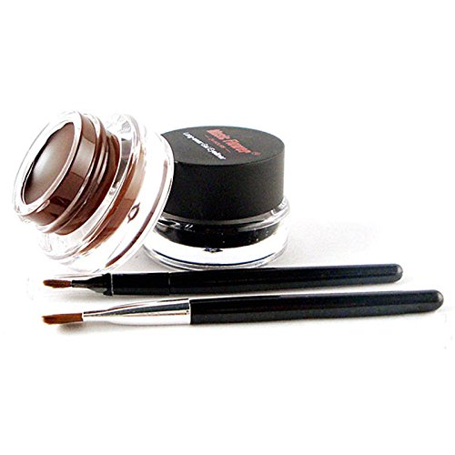 new-style-brown-black-colors-eyeliner-gel-2pcs-brushes-makeup-cosmetic-sets