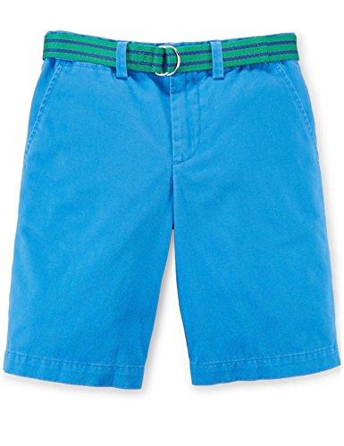 (Polo Ralph Lauren Boys' Cotton Chino Shorts with Belt (16, Jewel Blue))