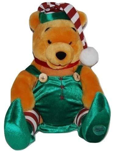 "Disney Christmas Holiday Winnie the Pooh 13"" Plush Santa Elf Pooh Bear Doll from Disney"