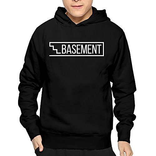 Lightweight 80's Juniors Male Basement Logo Small Hoodies