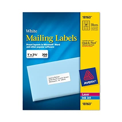 Amazon Avery Labels 8160 Address Labels Office Products