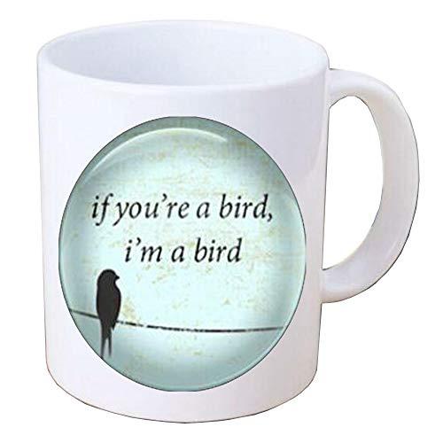 If You're A Bird I'm A Bird Handcrafted Mug Coffee Mug,bird charm Coffee Mug,inspirational Jewelry,BV246