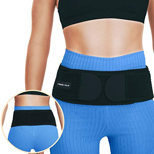 c Hip Belt for Women and Men That Alleviates Sciatic, Pelvic, Lower Back, and Lumbar Pain | SI Joint Support | Trochanter Belt | Durable Hip Brace | Sciatica Nerve Pain Relief ()